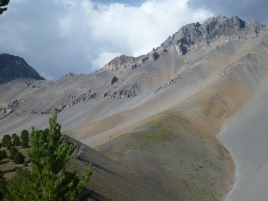 miles of scree sidehill between Leatherman and Church